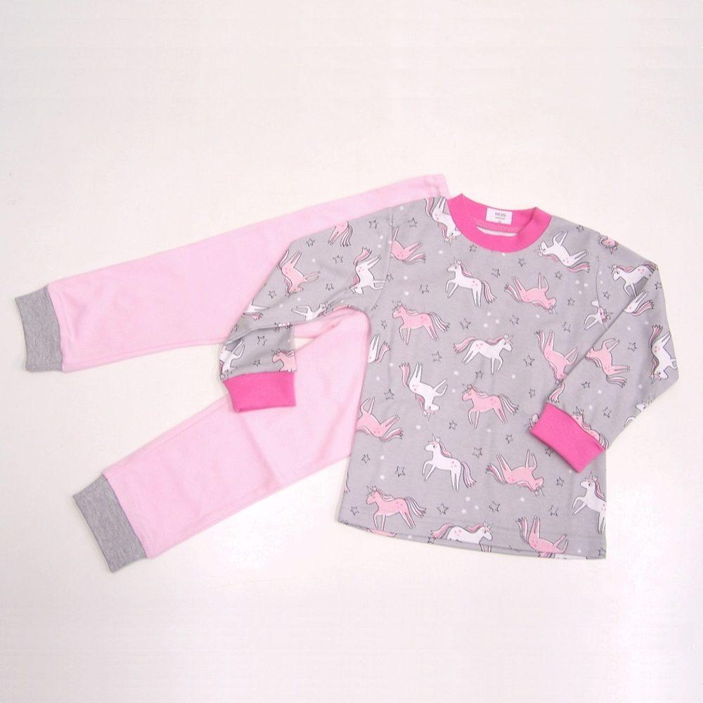 Chráněné dílny AVE Strážnice Detské pyžamo s jednorožcami - 116 cm