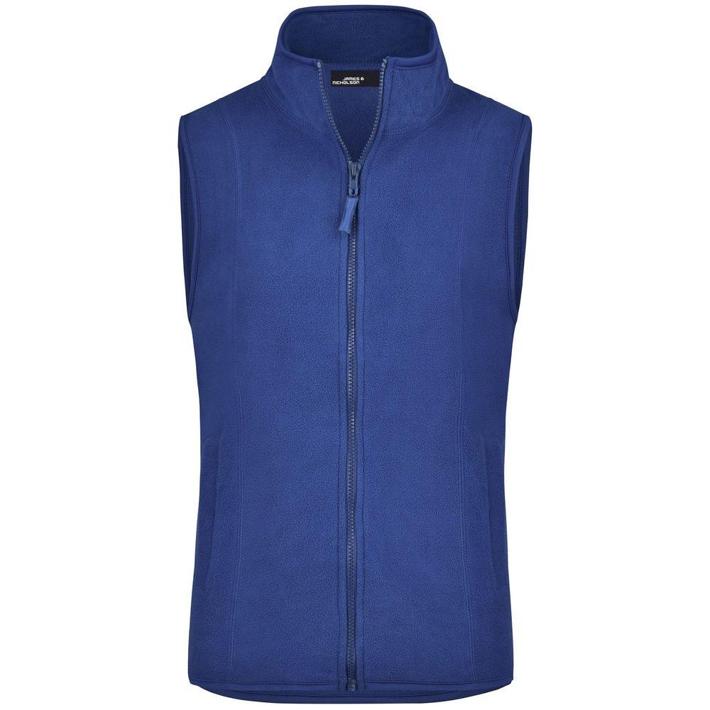James & Nicholson Dámska fleecová vesta JN048 - Královská modrá   XXL