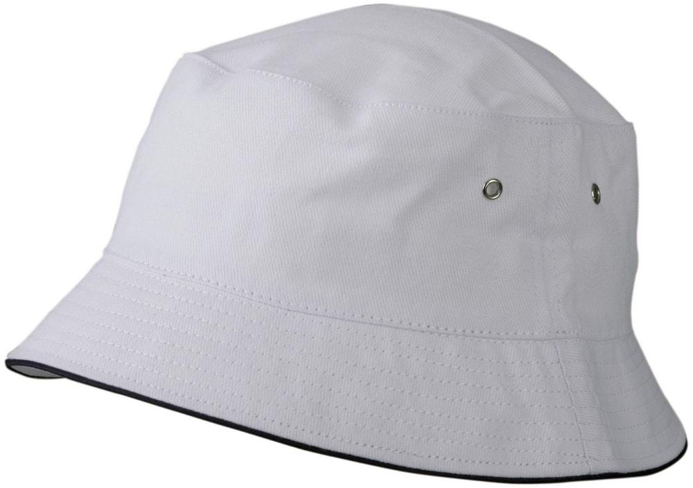 Dětský klobouček MB013 - Bílá / tmavě modrá | 54 cm