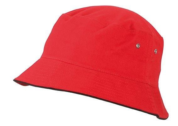 Bavlněný klobouk MB012 - Červená / černá | S/M
