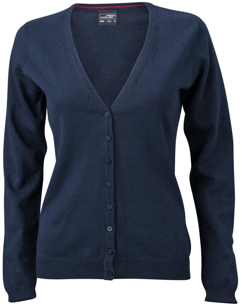 Dámský bavlněný svetr JN660 - Tmavě modrá | S