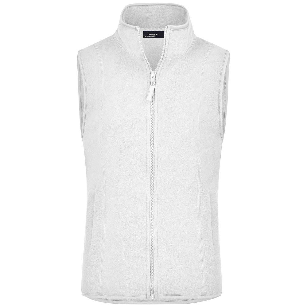 James & Nicholson Dámska fleecová vesta JN048 - Bílá | XL