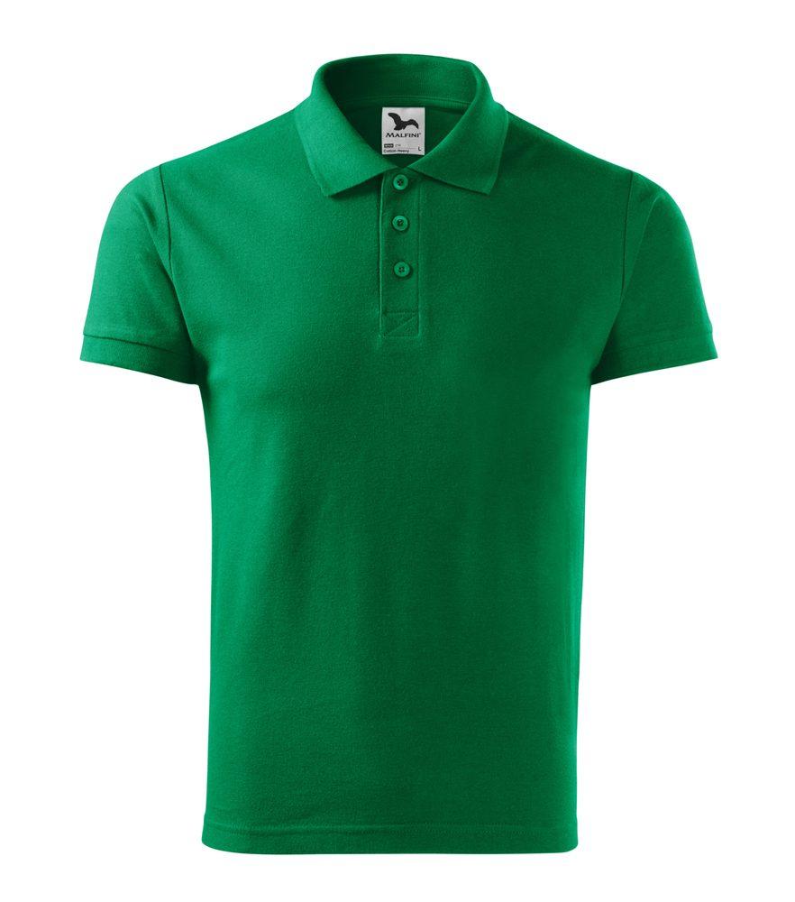 Adler Pánska polokošeľa Cotton Heavy - Středně zelená   S