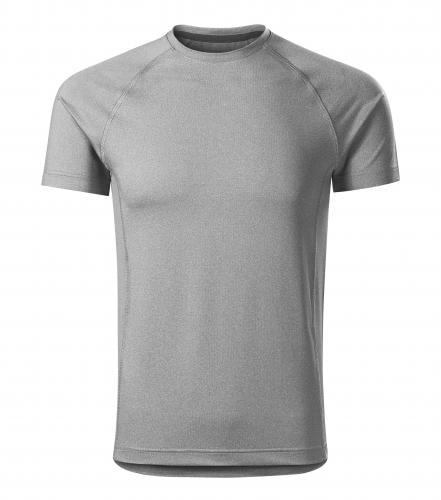 Adler Pánske tričko Destiny - Tmavě šedý melír | XXL
