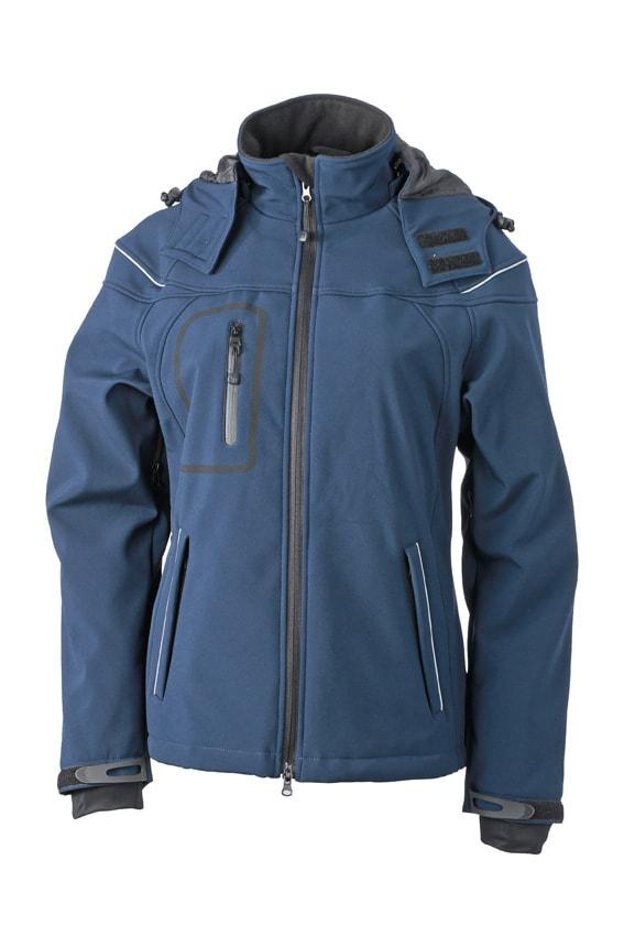 James & Nicholson Zimní dámská softshellová bunda JN1001 - Tmavě modrá | XL