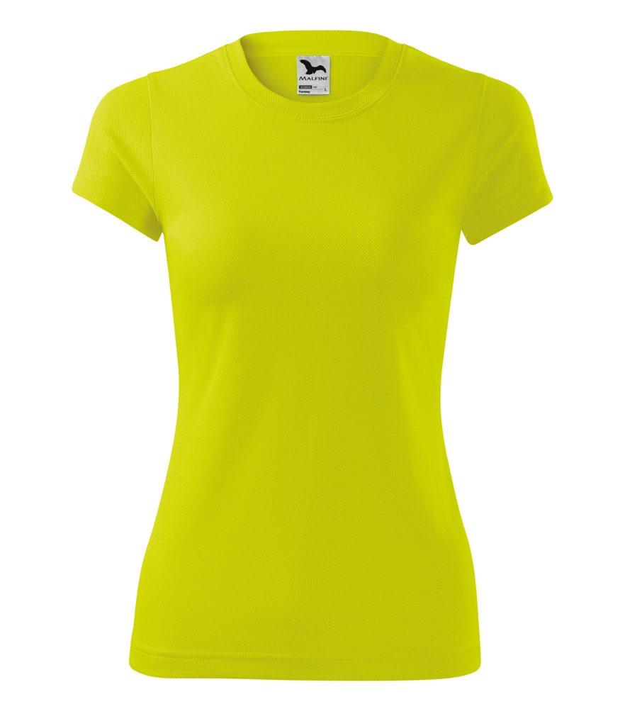 Adler Dámske tričko Fantasy - Neonově žlutá | L