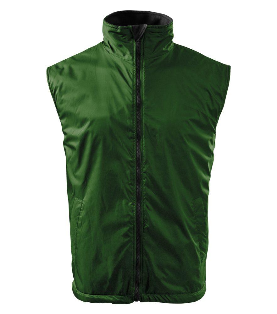 Adler Pánska vesta Body Warmer - Lahvově zelená | XXL