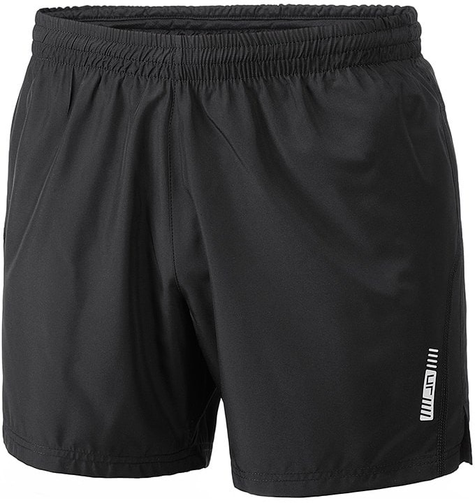 James & Nicholson Pánské běžecké šortky JN488 - Černá / černá   M