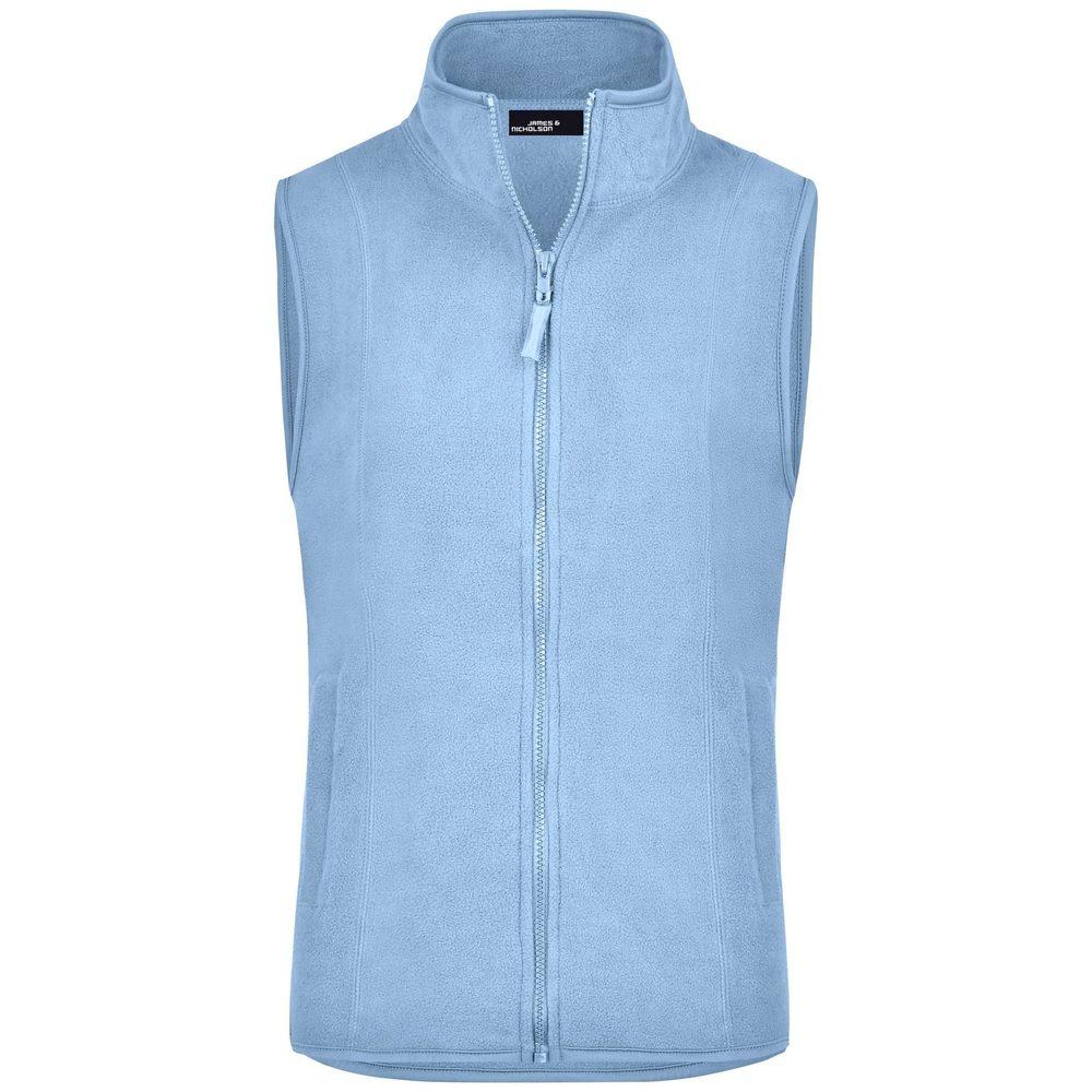 James & Nicholson Dámská fleecová vesta JN048 - Světle modrá   XL