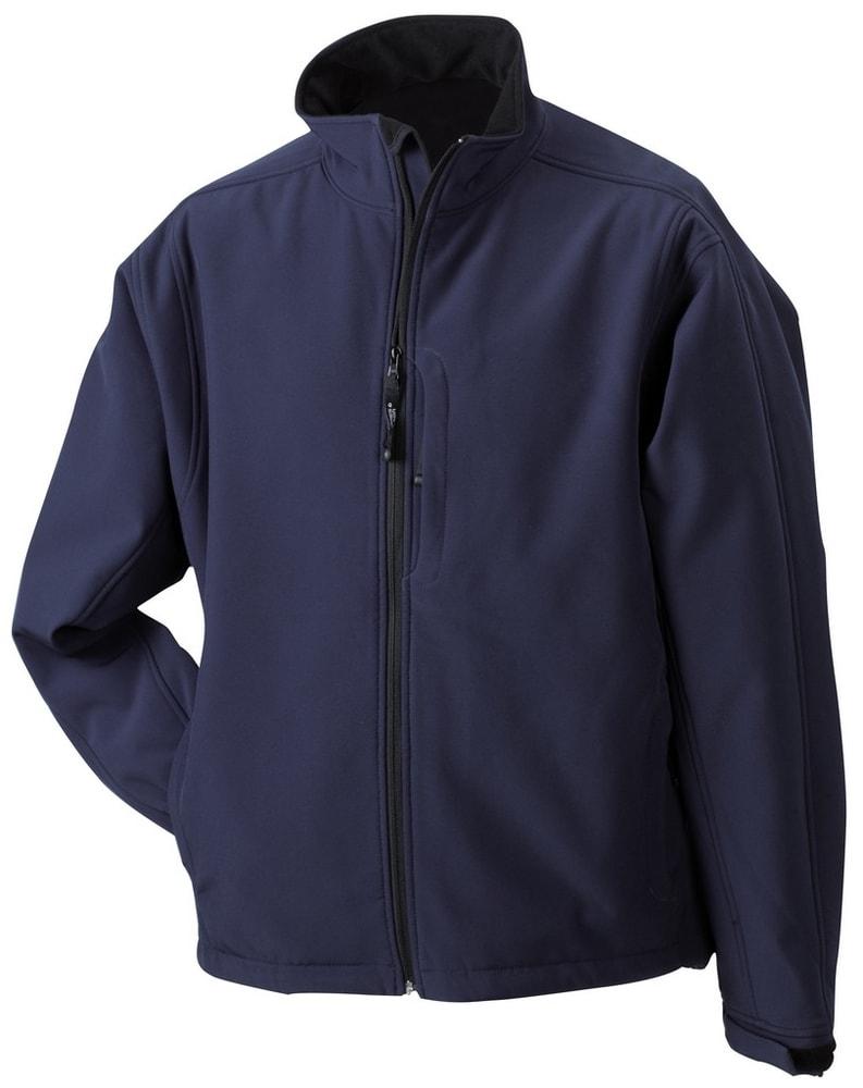 James & Nicholson Pánska softshellová bunda JN135 - Tmavě modrá | XL