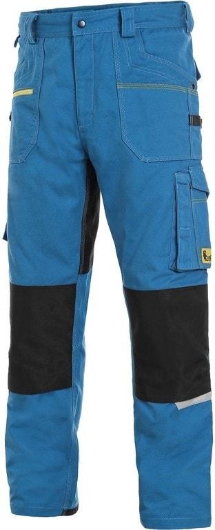 Canis Montérkové nohavice do pása CXS STRETCH - Středně modrá / černá   48