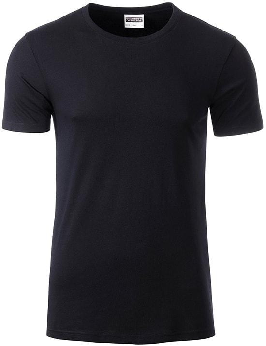 James & Nicholson Klasické pánske tričko z biobavlny 8008 - Černá | XXL