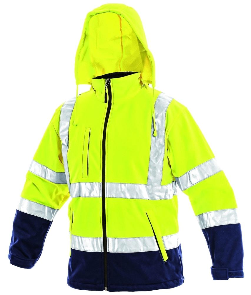Canis Reflexná softshellová bunda DERBY - Žlutá | XXL