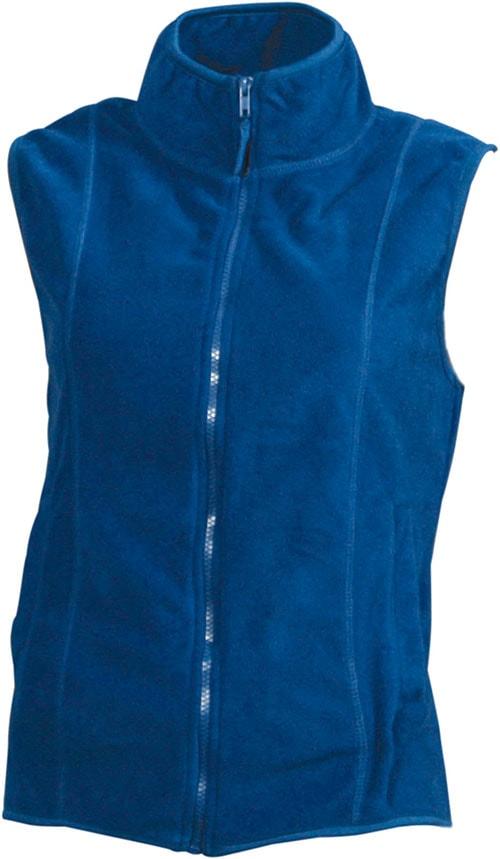 James & Nicholson Dámska fleecová vesta JN048 - Královská modrá | S