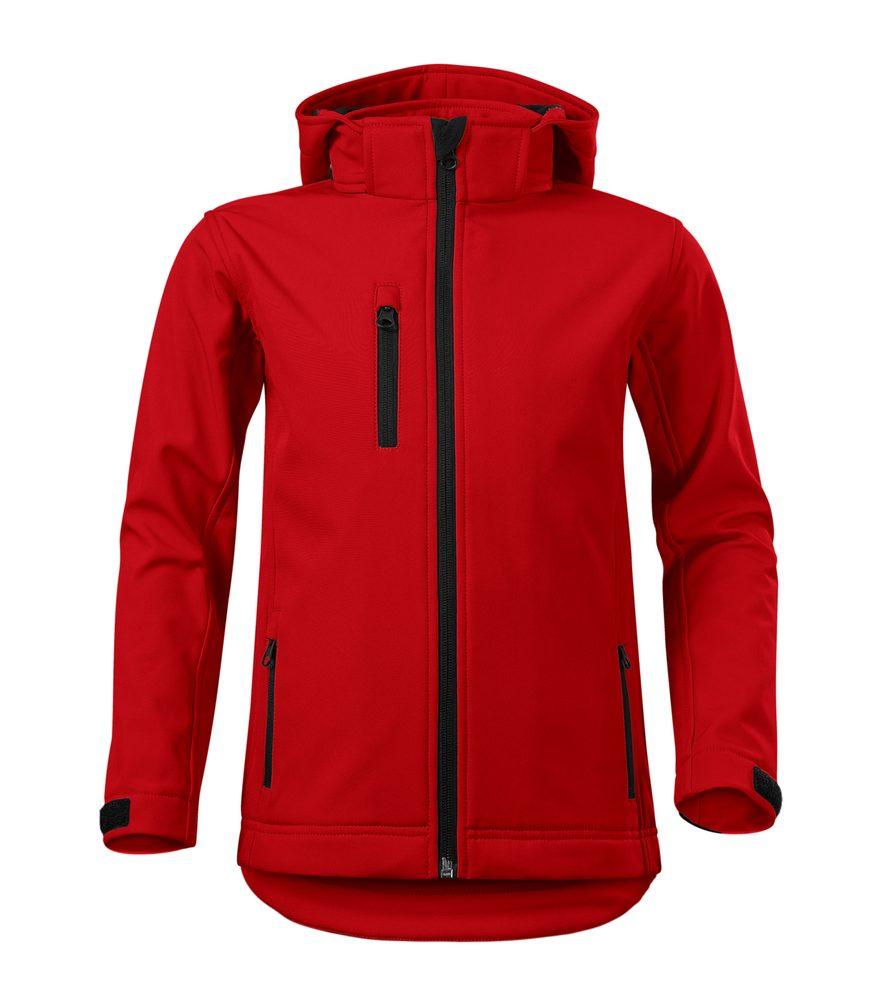 Adler (MALFINI) Dětská softshellová bunda Performance - Červená | 134 cm (8 let)
