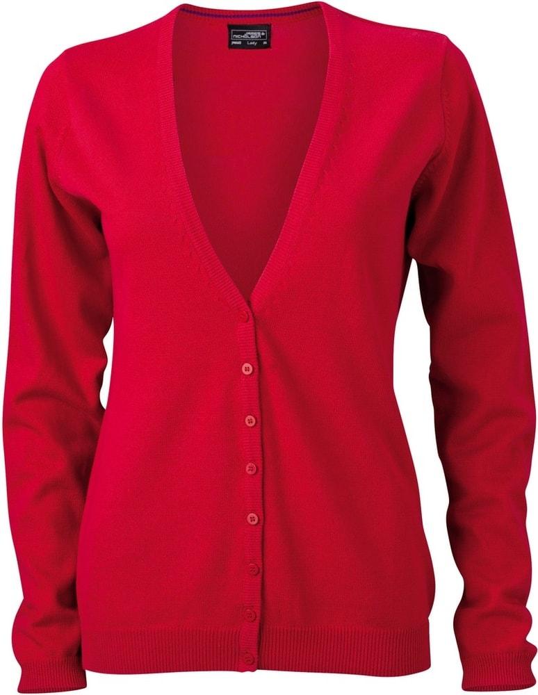 Dámský bavlněný svetr JN660 - Červená | S