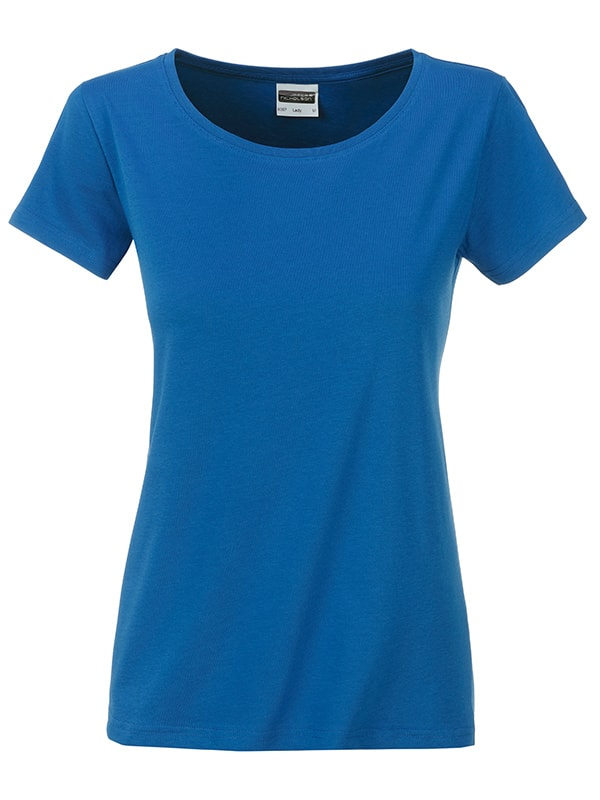 James & Nicholson Klasické dámske tričko z biobavlny 8007 - Královská modrá | XL