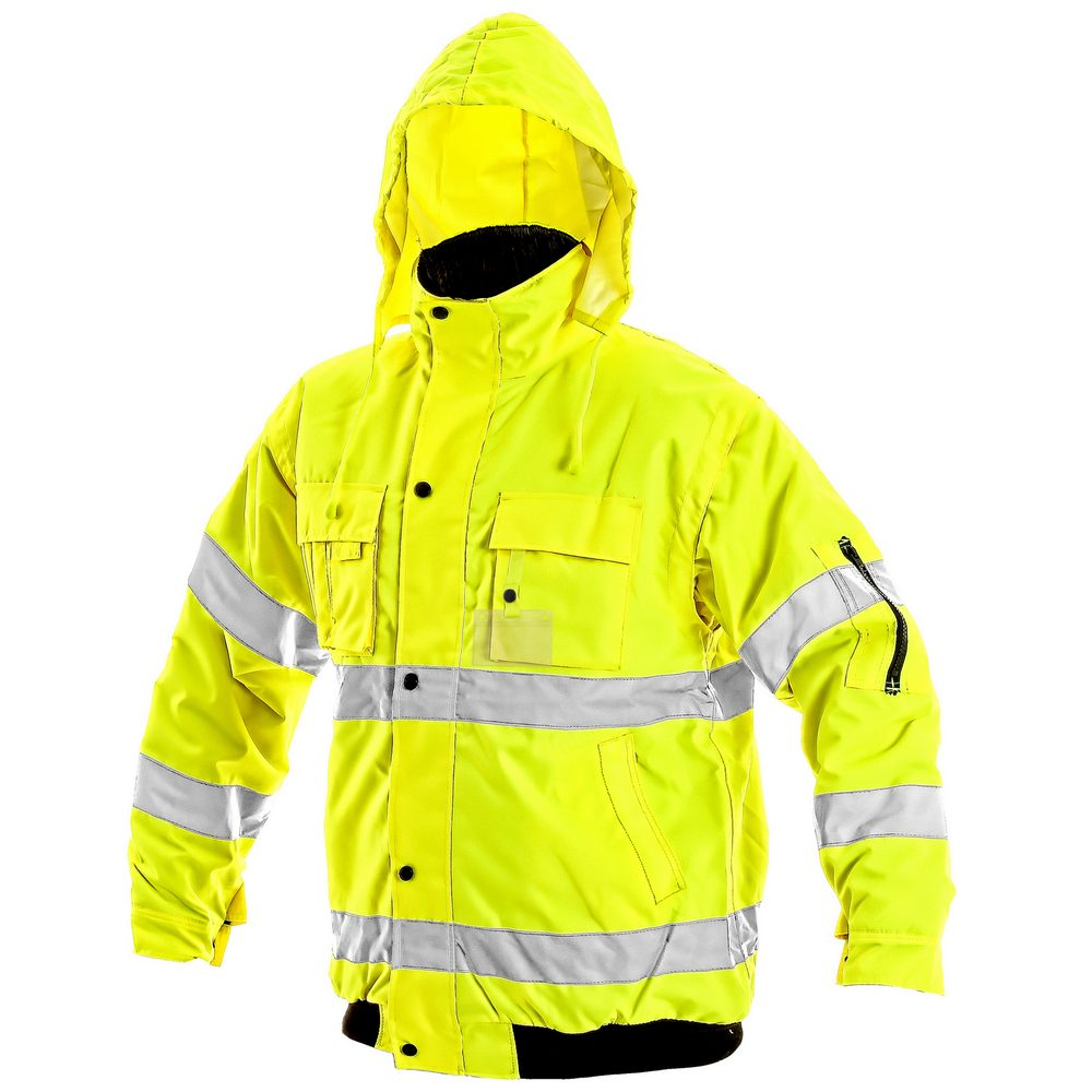 Canis Zimná reflexná bunda s odopínateľnými rukávmi LEEDS - Žlutá | XL
