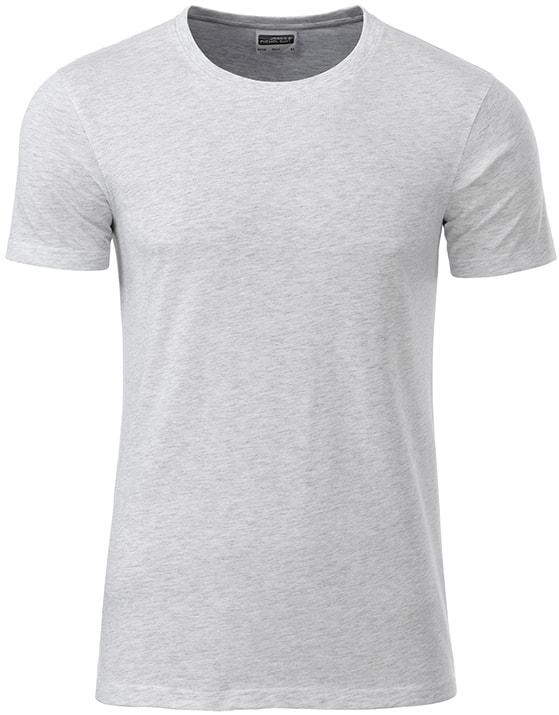James & Nicholson Klasické pánske tričko z biobavlny 8008 - Popelavá | XXL