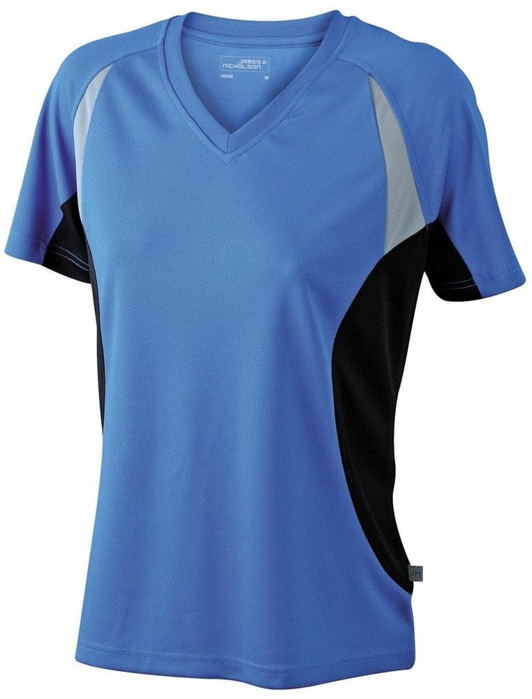 James & Nicholson Dámské funkční tričko s krátkým rukávem JN390 - Královská modrá / černá | XXL