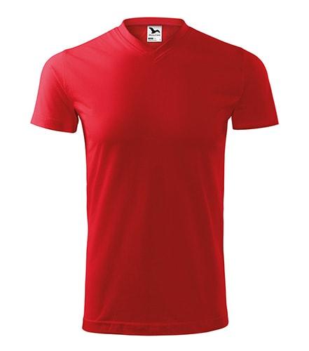 Adler Tričko Heavy V-neck - Červená | XXL