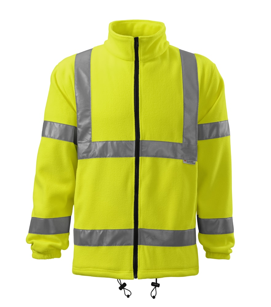 Adler Reflexná fleecová bunda HV Fleece Jacket - Reflexní žlutá | XXL