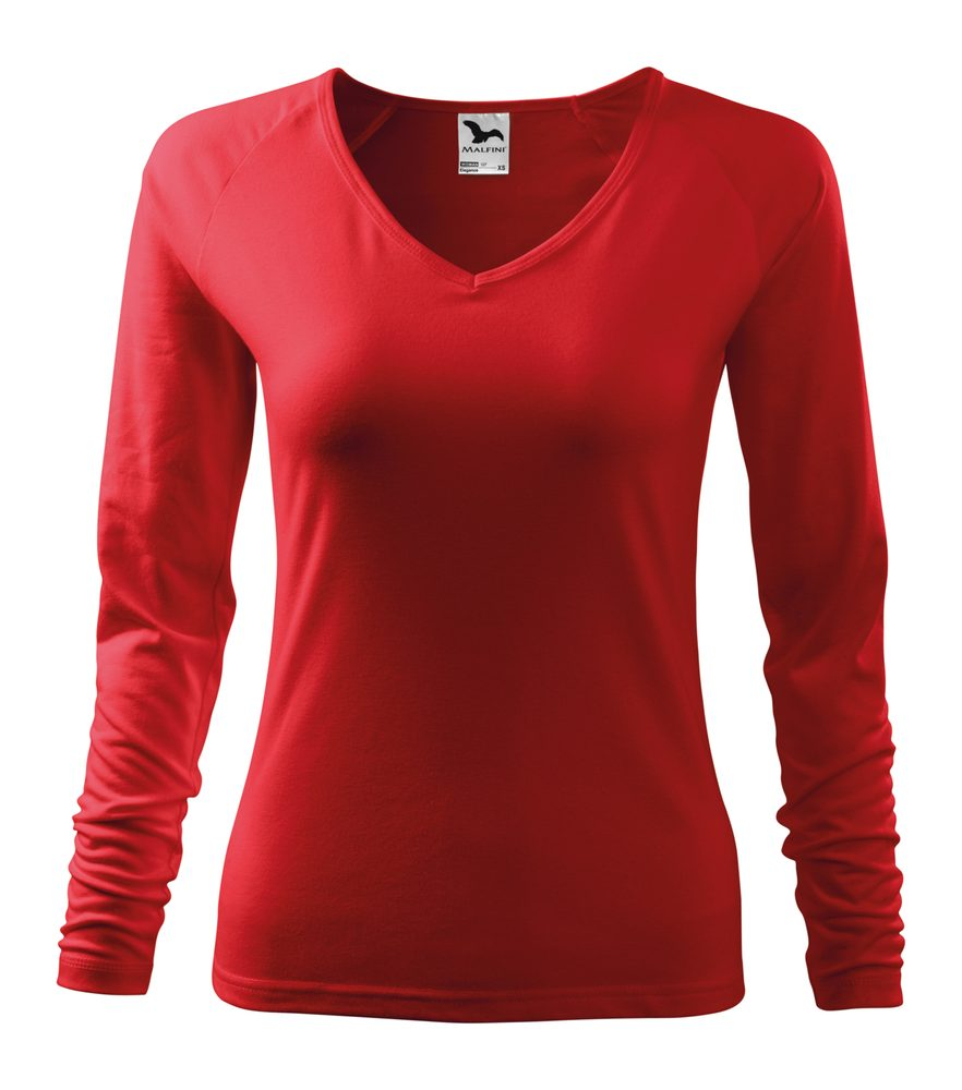 Adler (MALFINI) Dámske tričko s dlhým rukávom Elegance - Červená | S