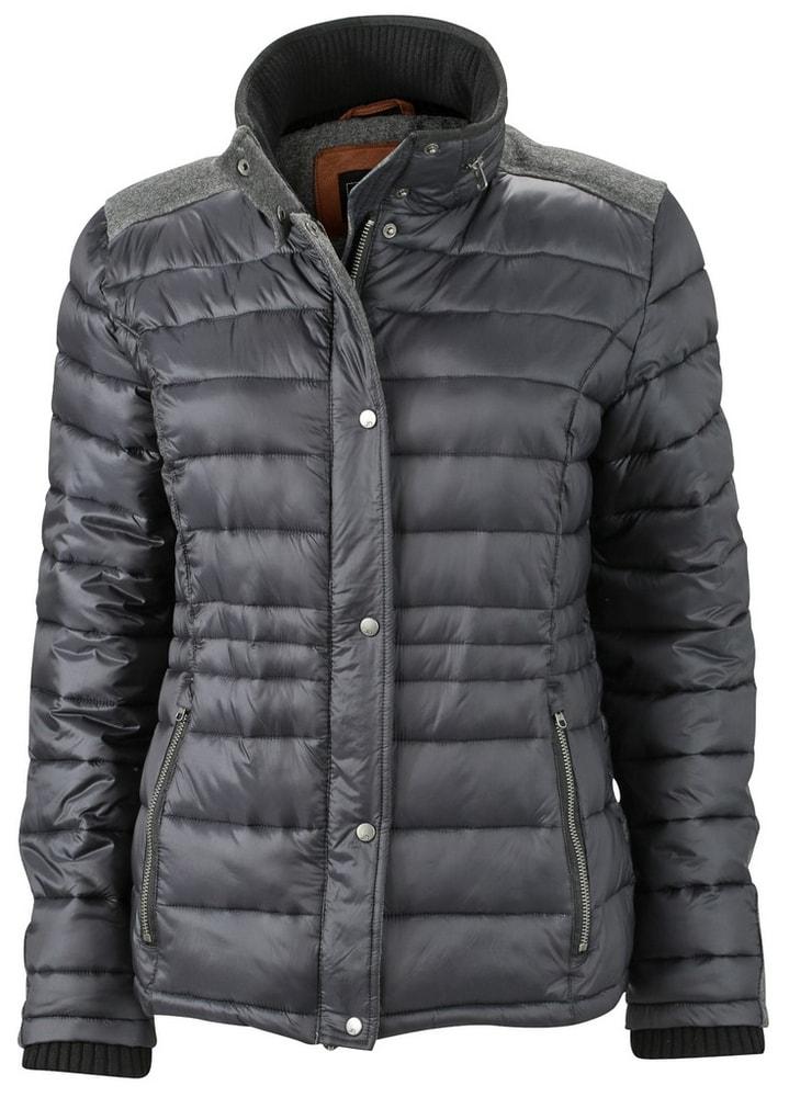 James & Nicholson Dámska zimná bunda JN1099 - Uhlově černá | S