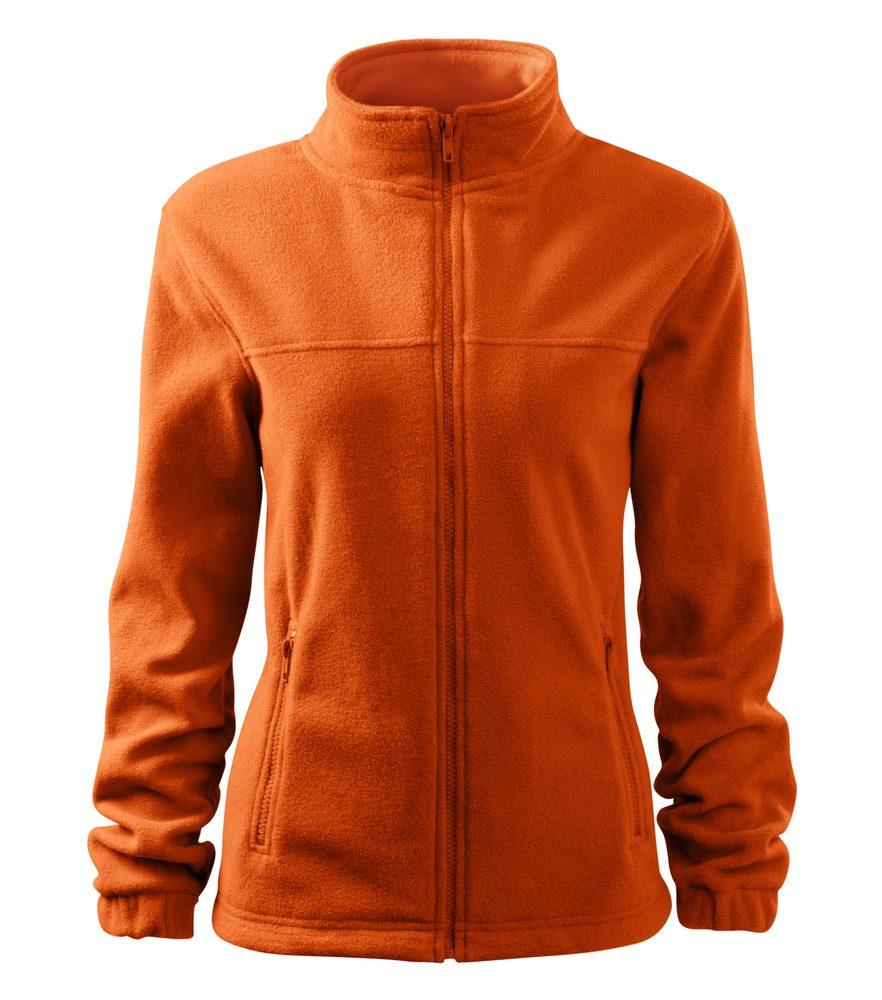 Adler Dámska fleecová mikina Jacket - Oranžová | S