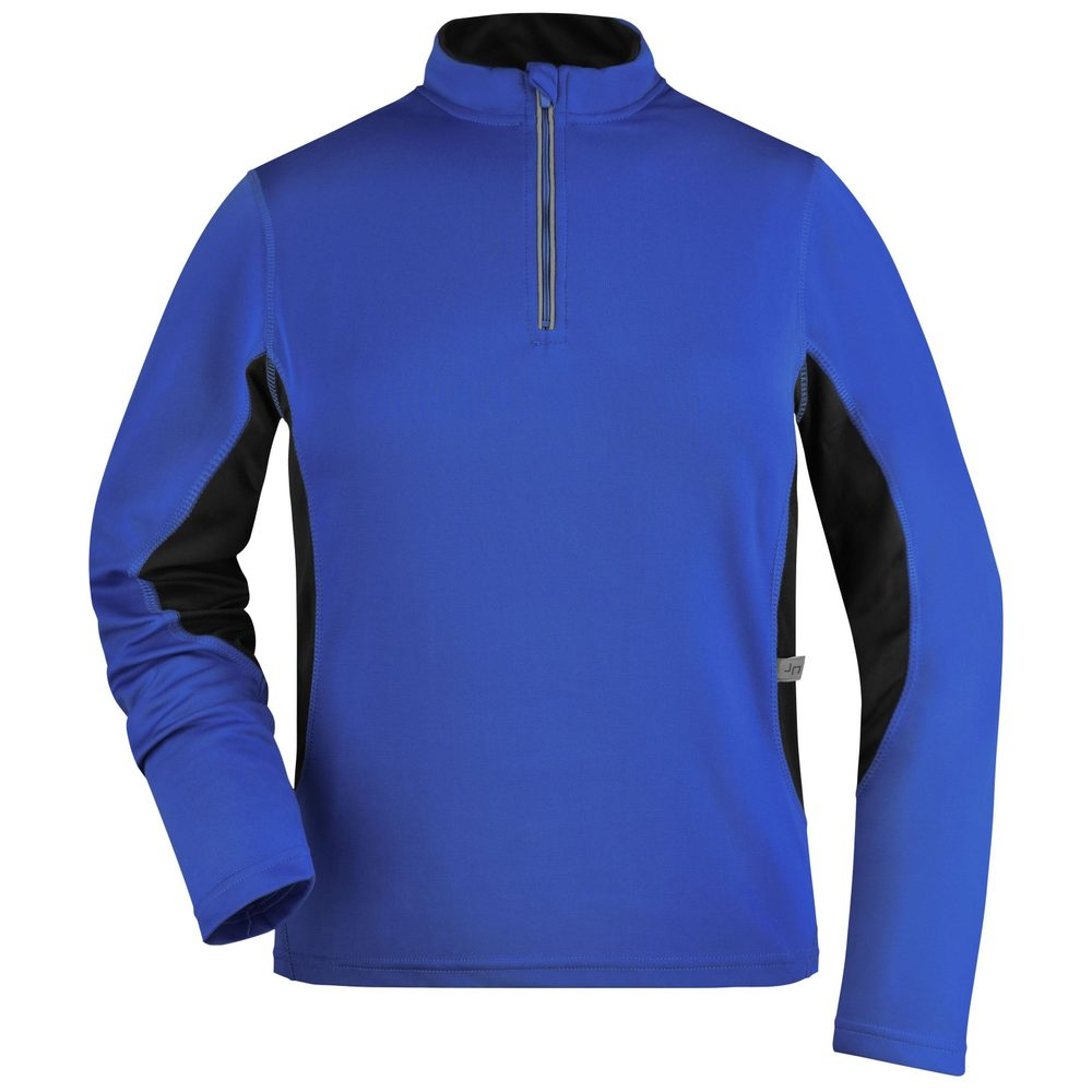 James & Nicholson Dámské sportovní tričko s dlouhým rukávem JN317 - Královská modrá / černá | XXL