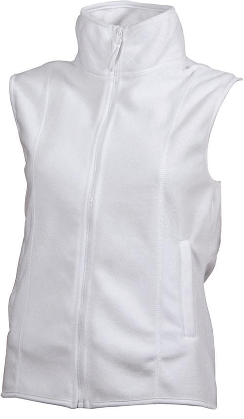 James & Nicholson Dámska fleecová vesta JN048 - Bílá | M
