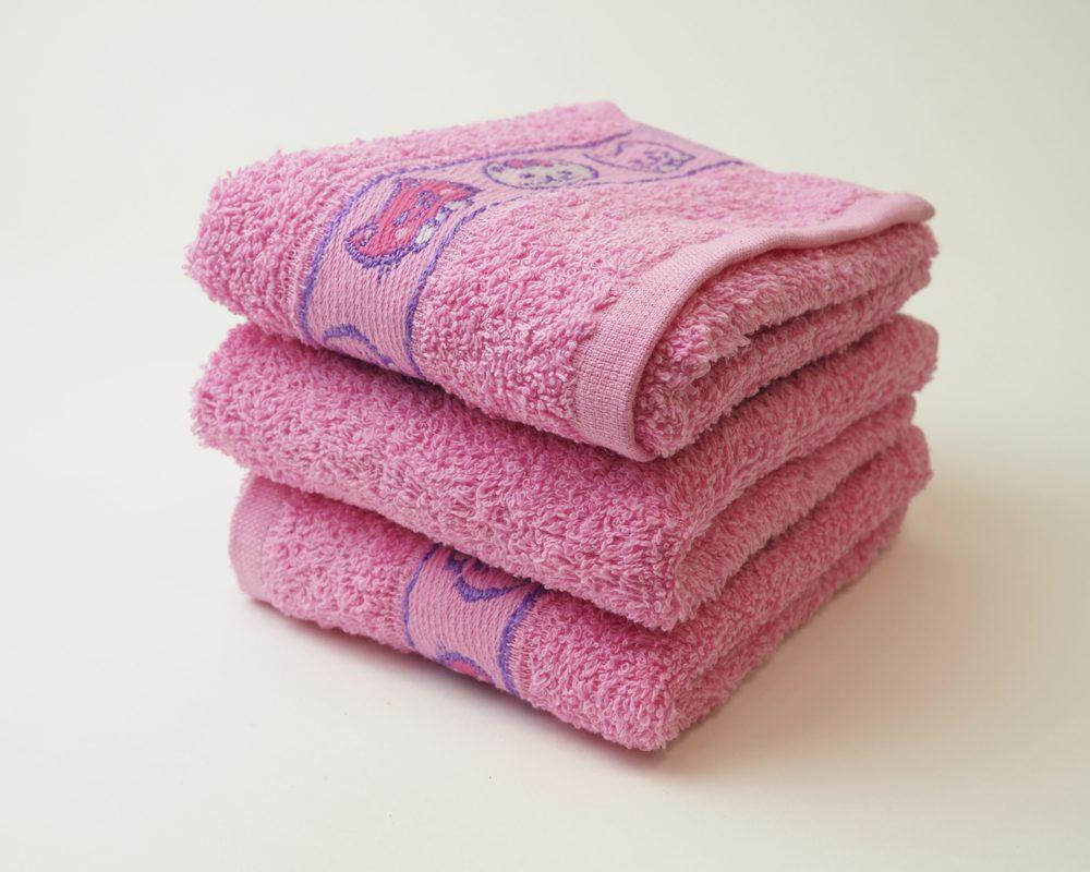Dobrý Textil Dětský ručník s motivy 30x50 - Růžová | 30 x 50 cm