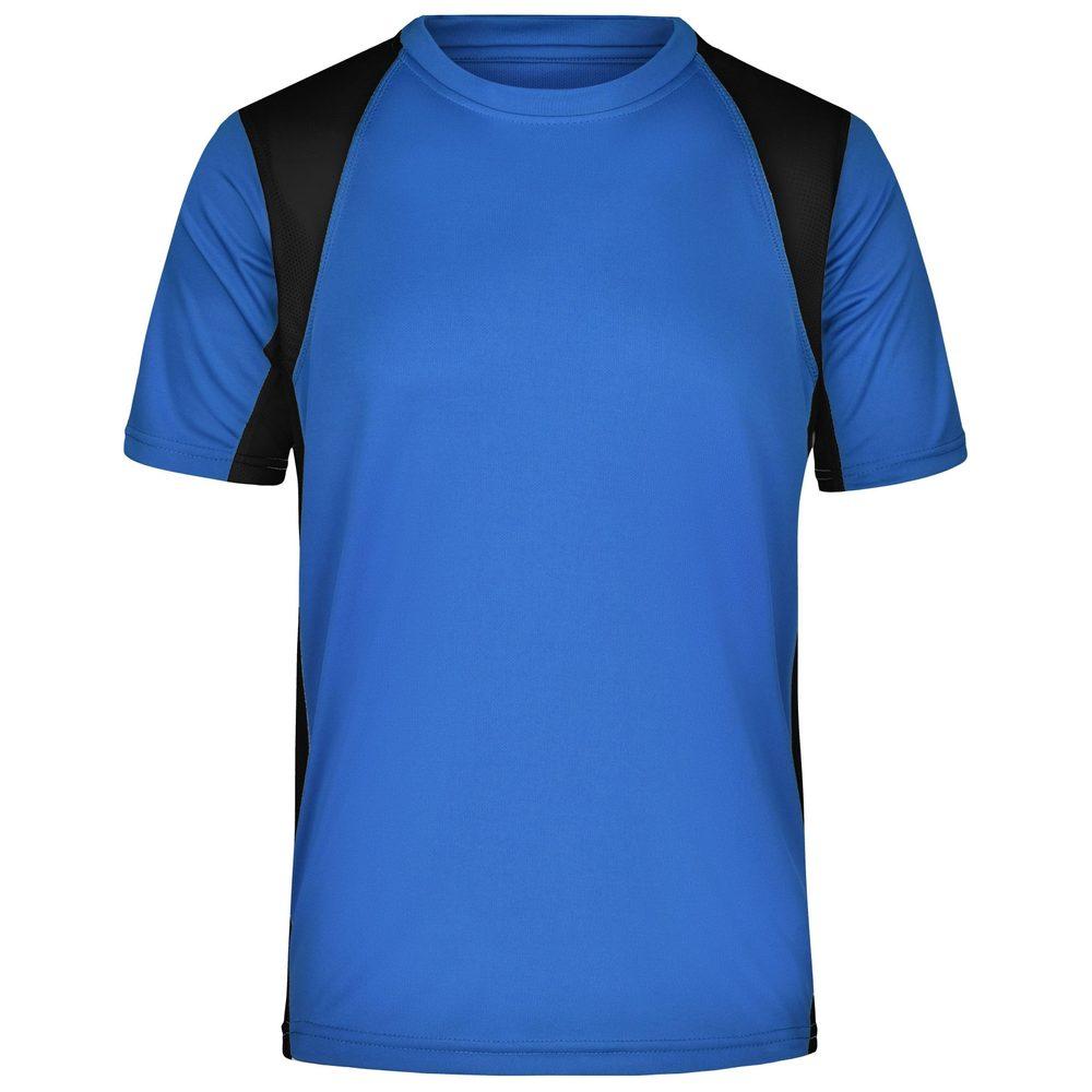James & Nicholson Pánske športové tričko s krátkym rukávom JN306 - Královská modrá / černá | XL