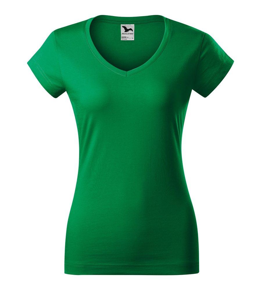 Adler Dámske tričko Fit V-neck - Středně zelená | M