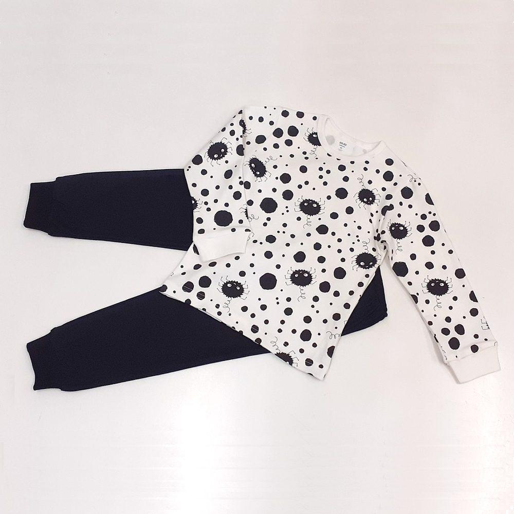 Chráněné dílny AVE Strážnice Detské pyžamo s pavúčikmi - 116 cm