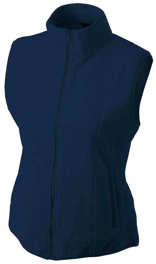 James & Nicholson Dámska fleecová vesta JN048 - Tmavě modrá | L