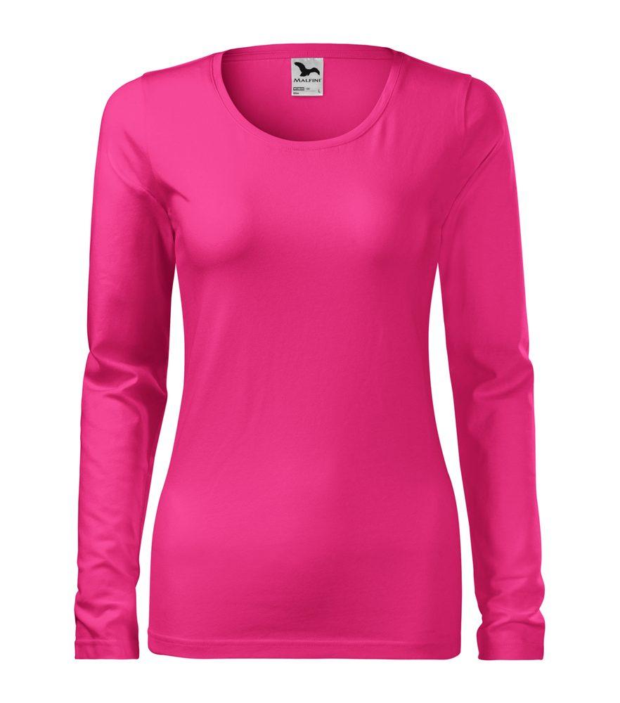 Adler (MALFINI) Dámske tričko s dlhým rukávom Slim - Purpurová | XS