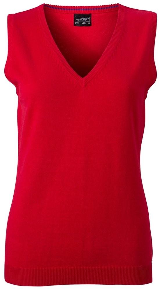 Dámský svetr bez rukávů JN656 - Červená | L