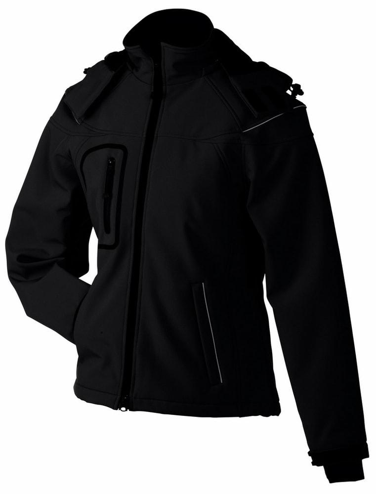 James & Nicholson Zimná dámska softshellová bunda JN1001 - Černá | XL