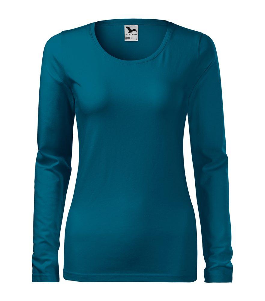 Adler Dámske tričko s dlhým rukávom Slim - Petrolejová | L