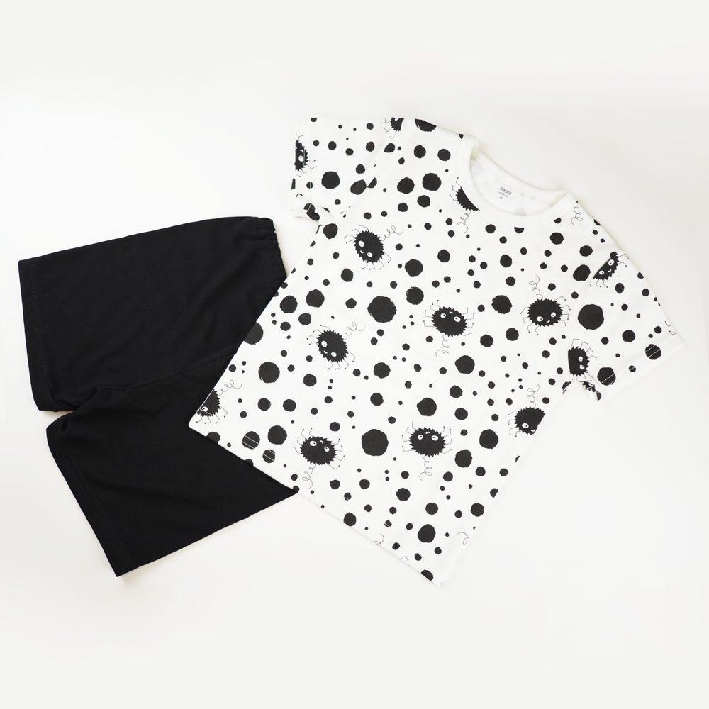 Chráněné dílny AVE Strážnice Detské pyžamo s krátkym rukávom s pavúčikmi - 116 cm