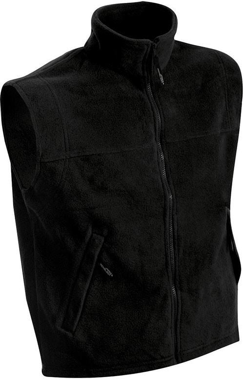 James & Nicholson Pánska fleecová vesta JN045 - Černá | XXXL