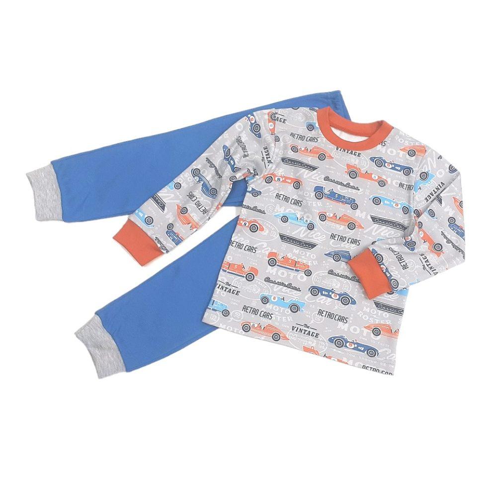 Chráněné dílny AVE Strážnice Detské pyžamo s retro autíčkami - 116 cm