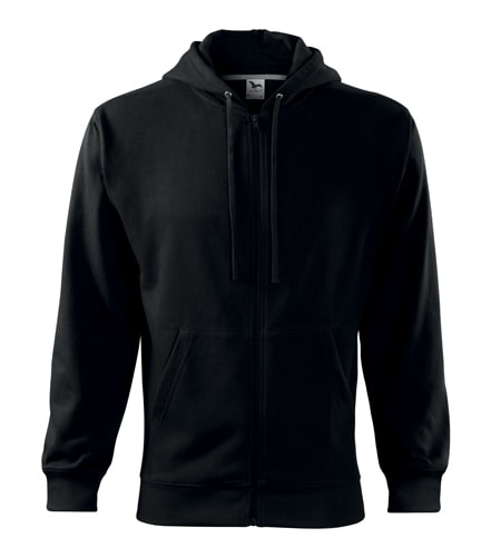 Adler Pánska mikina Trendy Zipper - Černá   S