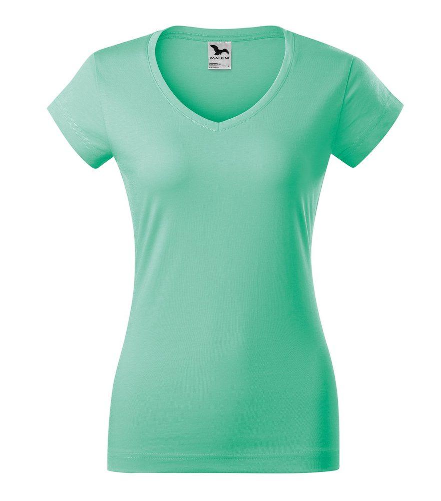Adler Dámske tričko Fit V-neck - Mátová | S