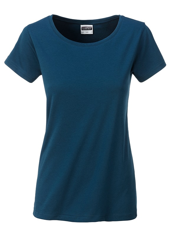 James & Nicholson Klasické dámske tričko z biobavlny 8007 - Petrolejová | XL