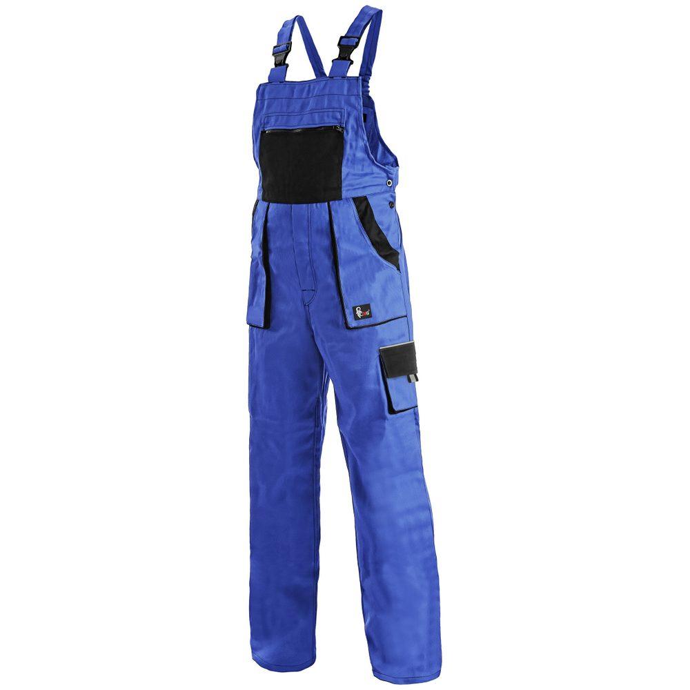 Canis Dámské pracovní kalhoty s laclem CXS LUXY SABINA - Modrá / černá   44