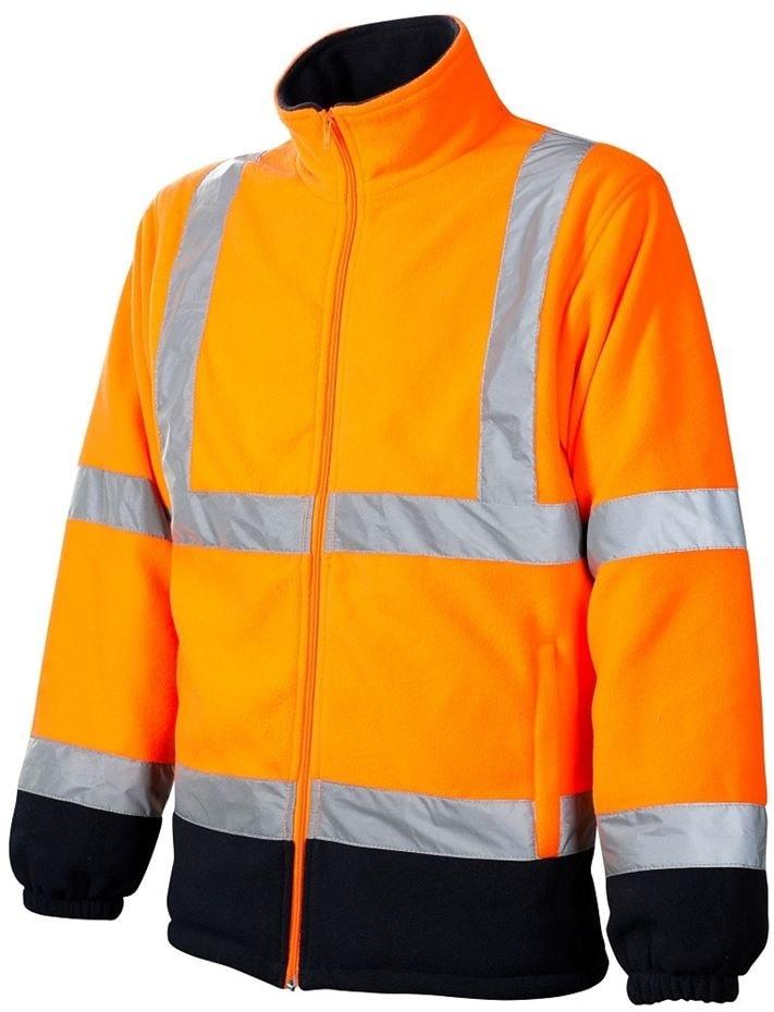 Ardon Reflexná fleecová mikina - Oranžová | S