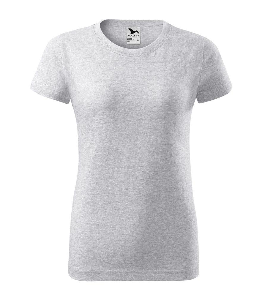 Adler Dámske tričko Basic - Světle šedý melír | XXL