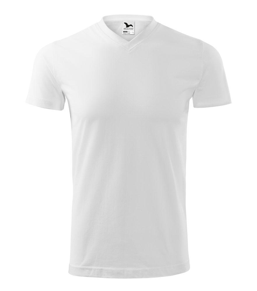 Adler Tričko Heavy V-neck - Bílá | XXXL
